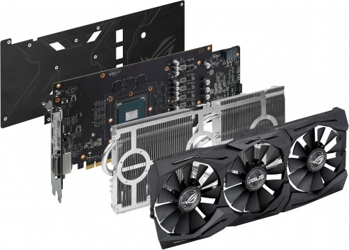 Exploded view of the ASUS GTX 1060