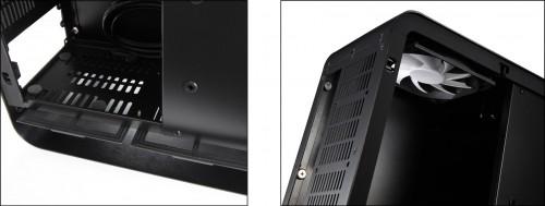 Left; Dust filters, Right; 120mm fan in standard UMX1