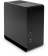 UMX3 Zone Black Compact Tower Aluminium Micro-ATX Case
