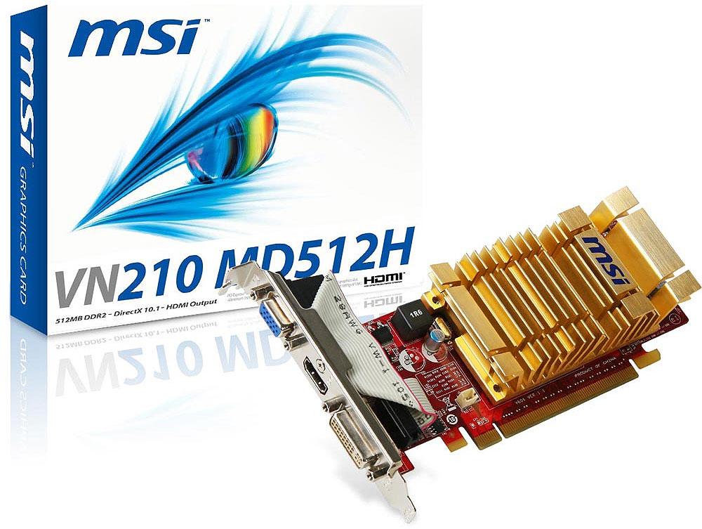 VN210-MD512H Fanless NVIDIA VN210 512MB GDDR2 HDMI